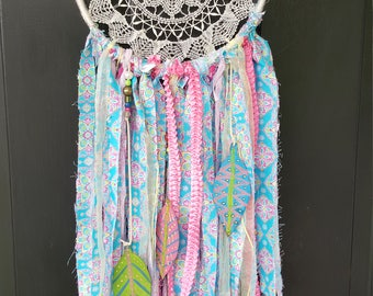 DOILY DREAM CATCHER inspired by Lilly Pulitzer Handmade!