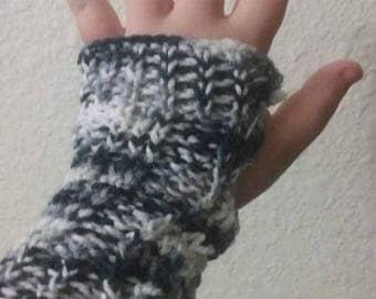 Handmade Cotton Knitted Fingerless Gloves