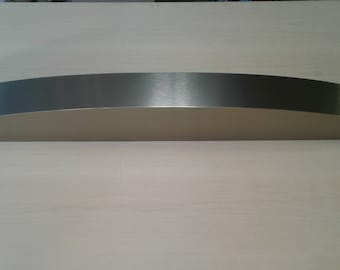 """Solid stainless  (0,6 mm)laminated curved  fireplace mantel 5 inch thick,60- 70""""wide,8""""deep"""