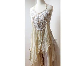 wedding dress, crochet lace dress bohemain, dress bridesmaid hippie boho