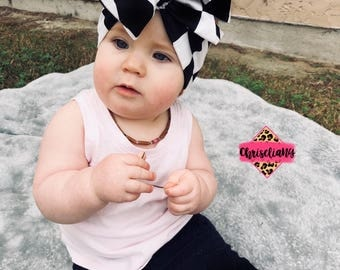 Black and White Checkered headwrap, head wrap, fabric head wrap, baby headwrap, Toddler Headwrap, Baby Girl Headwrap, Newborn Headwrap