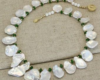 BN211- Keshi Fresh Water Pearl necklace