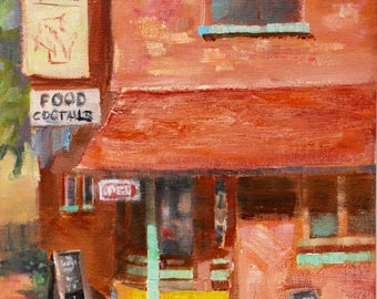 Landscape painting, original painting, oil painting, original paintings, oil paintings, Store Front, Plein Air, Oil on Canvas, Sue Whitney