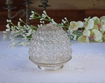 Vintage clear glass globe - Light globe - Porch light cover - Ceiling light globe - Vintage Fixture
