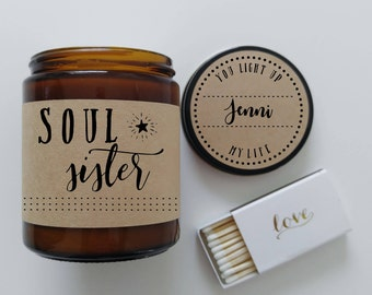 Soul Sisters Gift Soy Candle Gift for BFF Friend Gift Scented Candle Birthday Gift Valentine Gift  Christmas Gift Best Friend Gift