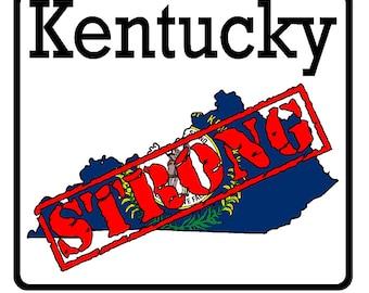 Kentucky State (K18) Strong Flag Vinyl Decal Sticker Car/Truck Laptop/Netbook Window