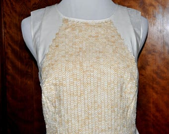 Vintage Ann Taylor Cream Dress, Vintage Ivory Dress, Ann Taylor Dress, Ivory Vintage Dress, Ann Taylor Pocket Dress, Sleeveless Dress
