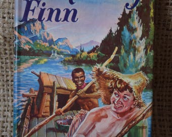 Huckleberry Finn. Mark Twain. A Vintage Hardback Book. Hamlyn Classics.