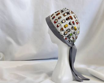 Chibi Star Wars Surgical Scrub Cap Dentist Vet Chemo Hat