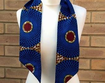 African print headband, wax print accessories, African print scarf