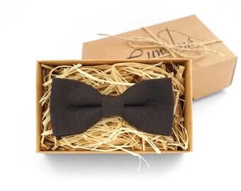 Dark Brown Bow Tie, Brown Bowtie for men, Chocolate bow tie, Bowtie for wedding, Groomsmen bowtie, Brown Kids bowtie, Toddler bow tie