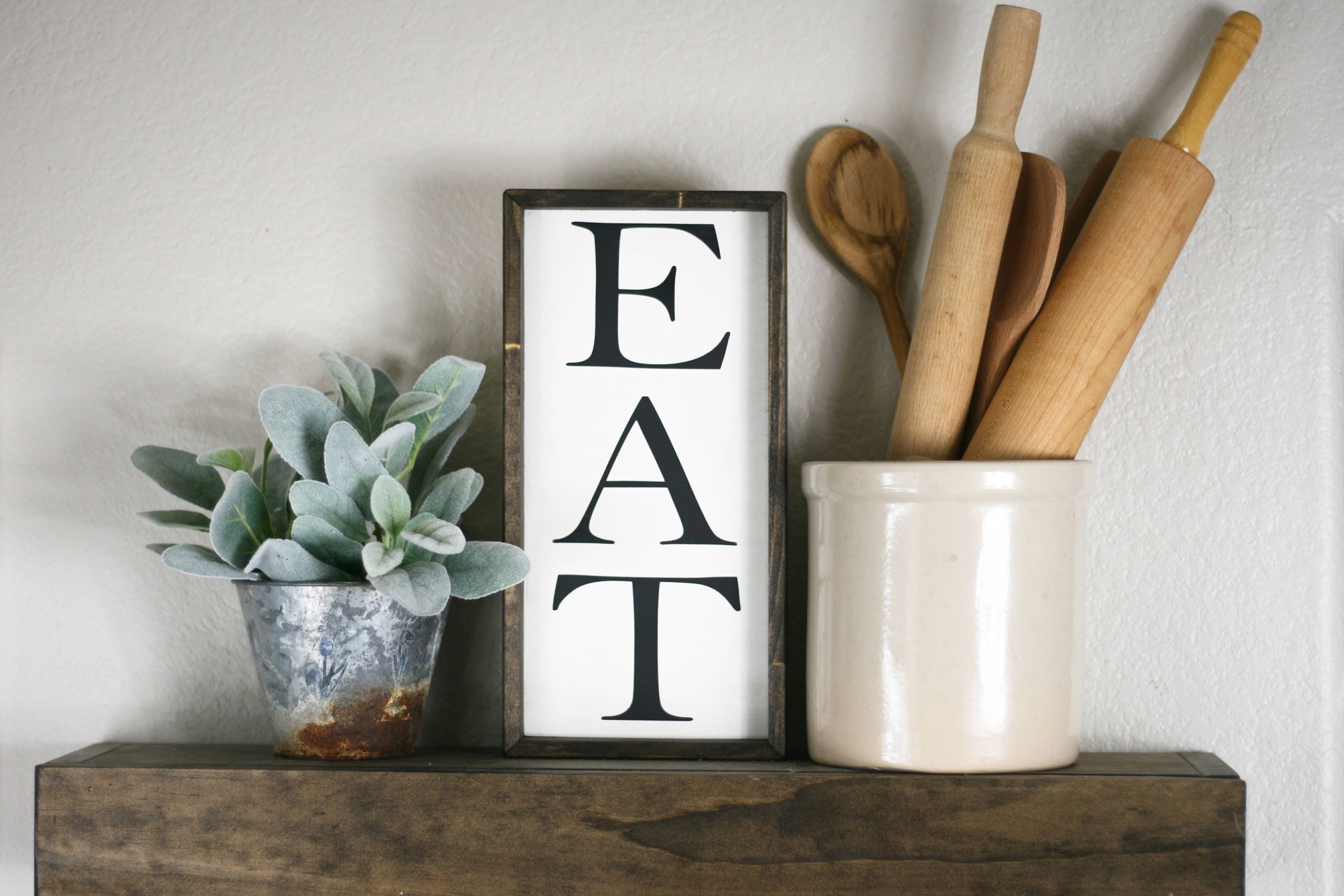 Eat Sign For Kitchen | Eat Sign Small Eat Wooden Sign 12x6 Kitchen Wall Decor