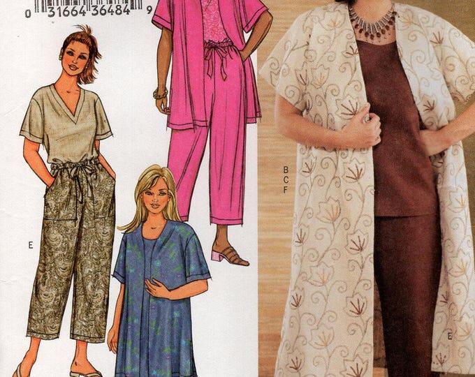 Butterick 3841 Sewing Pattern Free Us Ship Womens Plus Size Wardrobe Drawstring Pants Skirt Jacket  top Bust 38 40 42 44 46 48 50 52 54