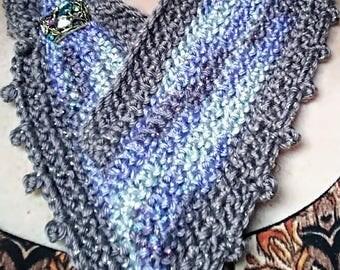 Crochet Jeweled Cowl