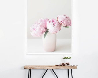 Pink Peony Floral Wall Art -  Peony Photography - Pink Flower Photo - Floral Wall Print - Pretty Nature Print - Home Decor - Nursery Decor