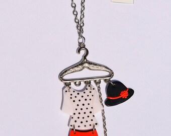 Boho necklace, pendant necklace, unique gift, fun necklace, chic, fashionable, gift for her, necklace for girls
