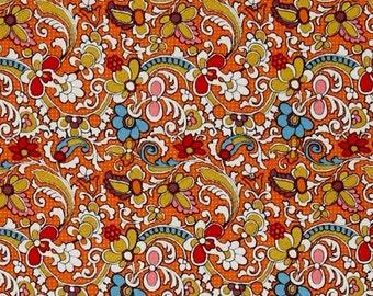 Riley Blake Bittersweet Lace Orange; By Sue Daley Designs; 1/2 yard woven cotton fabric