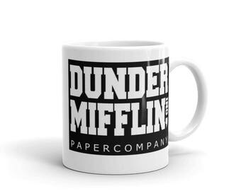 The Office, Dunder Mifflin Coffee Mug Dunder Mifflin (The Office) World's Best Boss TV Television Show Ceramic Gift Coffee (Tea, Cocoa) Mug