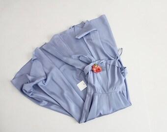 1950s blue gown   blue 50s dress   cloudy blue dress