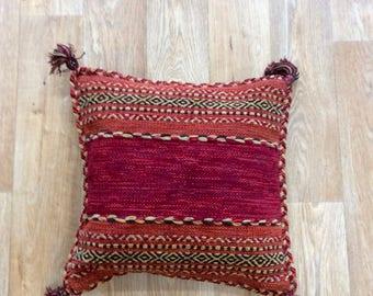 Vintage Handmade Moroccan Tunisian Turkish Kilim Pillow Cushion Cover
