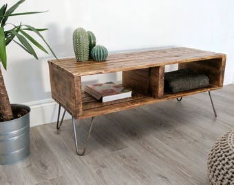 industrial looking furniture. turvas retro pallet coffee table in roast finish u0026 with vintage hairpin legs industrial looking furniture