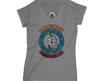 Skateboard t-shirt grunge t-shirt longboard t-shirt skater tshirt boyfriend shirt sister gift hipster t-shirt  AP24