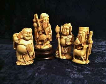 Vintage Small Chinese God Statues