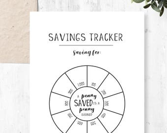 Savings Tracker, Circle Tracker, A5, Savings Printable, Economical and Time-saving, Planner Insert, Printable