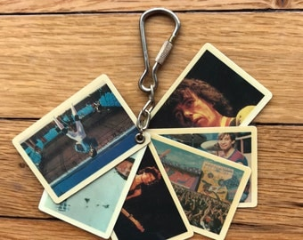 Vintage 80's Rolling Stones Concert Pictures Key Chain