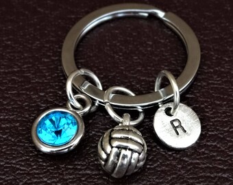 Volleyball Keychain, Custom Keychain, Custom Key Ring, Volleyball Pendant, Volleyball Charm, Volleyball Jewelry, Volleyball Mom, Volley ball