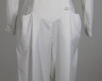 HB Honeybee 1980's White Jumpsuit