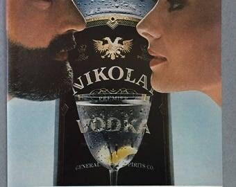 1980 Nikolai Vodka Print Ad