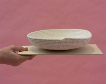 Shallow White Rope Tray