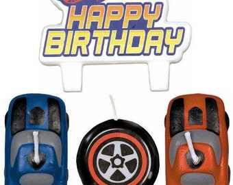 Hot Wheels ''Speed City'' Birthday Cake Candle Set 4ct