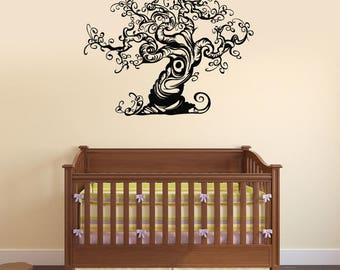 Beautiful Tree Vinyl Wall Decal Nature Room Decoration Idea Stickers Mural (#2635di)