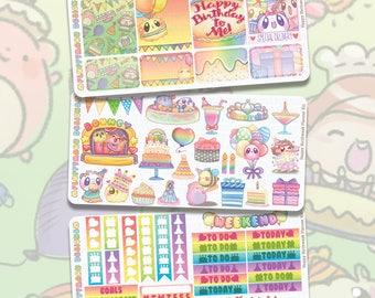 Happy Birthweek Planner Kit || Planner Stickers, Cute Stickers for Erin Condren (ECLP), Filofax, Kikki K, Etc. || PKS12