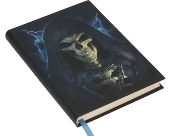 Embossed Journal The Reaper, Notebook, Game night, Notepad, Repear Book, Spell Book, Magic, Notebook, Journal