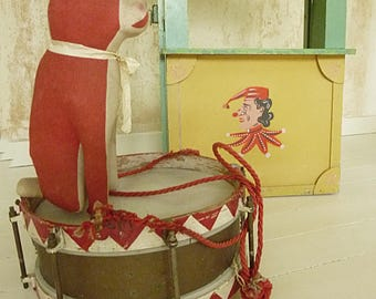 Antique puppet theater, Punch and Judy theater, circa 1920...CHARMANT