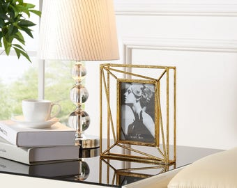 DS057 Danya B™ Sparkling Gold Geometric 5 x 7 Photo Frame
