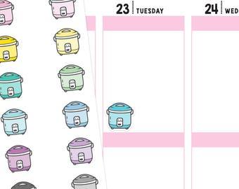 Crockpot Planner Stickers, Crockpot Stickers, Dinner Stickers, Meal Stickers, Food Stickers