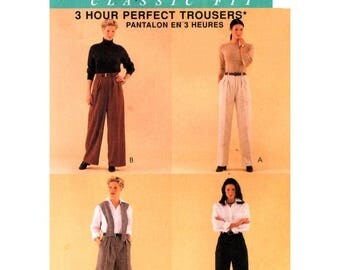 90s McCall's 9550 Palmer Pletsch Perfect Front Pleated Pants, Shorts and Fitting Shell, Uncut, Factory Folded, Sewing Pattern Plus Size 24