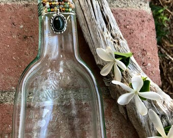 Slumped Melted White Wine Bottle