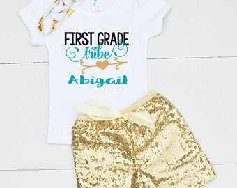 1st Day of 1st Grade Outfit - First Grade Shirt for Girls - Back to School Shirt - First Day of 1st Grade Outfit for Girls