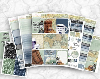 Wanderer No White-Space Weekly Kit - Planner Stickers