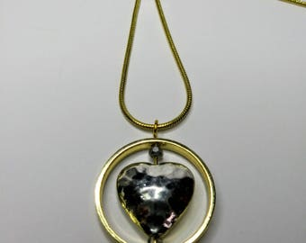 Spinning Heart Necklace