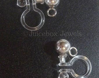 3/6/12 Pairs DIY Invisible Clip On Earring Finding,Stainless Steel 5 mm Ball/loop, Non-Pierced,Hypo-allergenic, Craft Item,Ear Finding  Y219