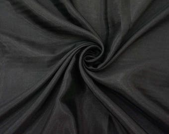 """Black Shantung Fabric, Indian Silk, Decorative Fabric, Home Accessories, 42"""" Inch Wide Fabric By The Yard ZSH2K"""