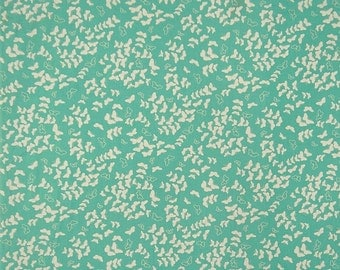 "Designer Fabric, Butterfly Print, Sea Green Fabric, Quilting Fabric, Dress Material, 43"" Inch Cotton Fabric By The Yard ZBC9126B"