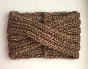 Knitted Headband-Alpaca Turban-Wool Headband-Bandeau laine-Wide headbands for women-Women Headband-Winter Headband-Stirnband-Wollen haarband