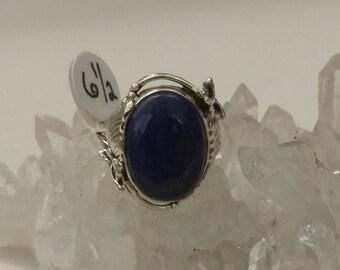 Lapis Ring Size 6 1/2